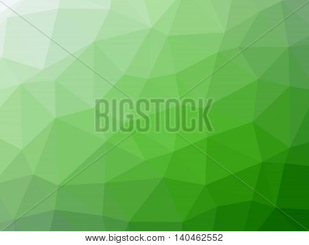 Green white gradient abstract polygon shaped background.