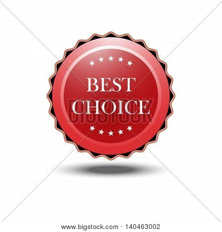 best choice label icon red vector illustration