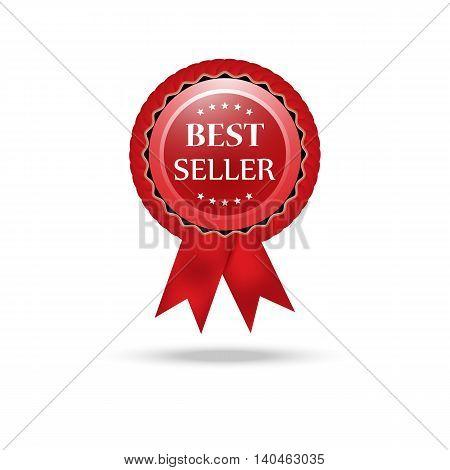 Vector best seller red sign label template