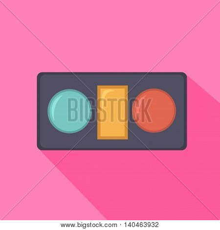 Eye shadow in box from beauty salon. Vector illustration.