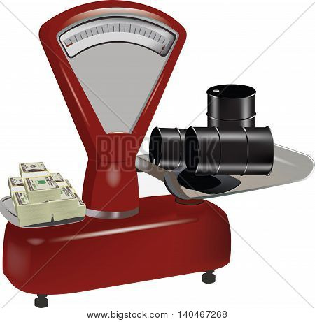 balance weight difference oil purch Ancient weight scale unlike buying oil extraction Currency, vector