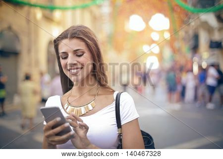 Woman chatting on her phone