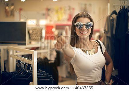 Young woman enjoying some shopping