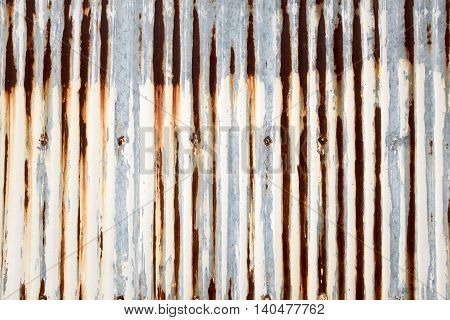 Background or texture of rust zinc fence.