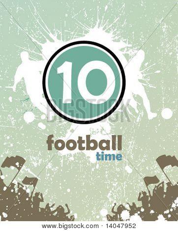 grunge football poster