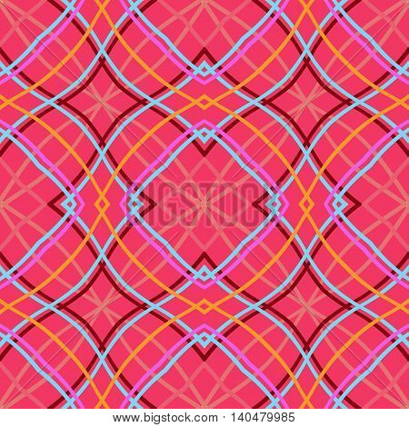 Vector seamless pattern, pink abstract geometric background illustration