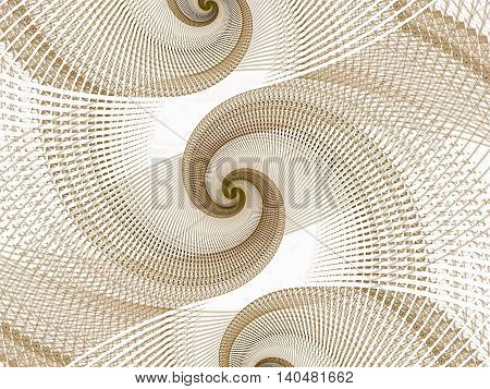 Abstract Textured Spiral - Digitally Generated Image