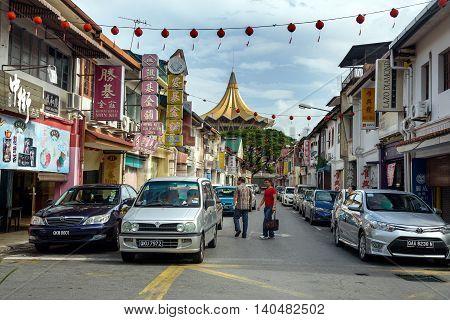 China Street In Kuching