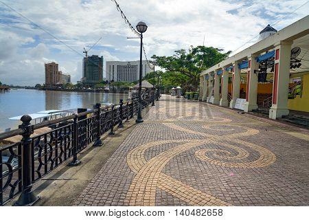 View Of Kuching City Waterfront