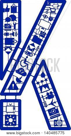 Assemble icon model kit form the font -K