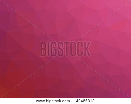 Abstract pink magenta gradient low polygon shaped background.