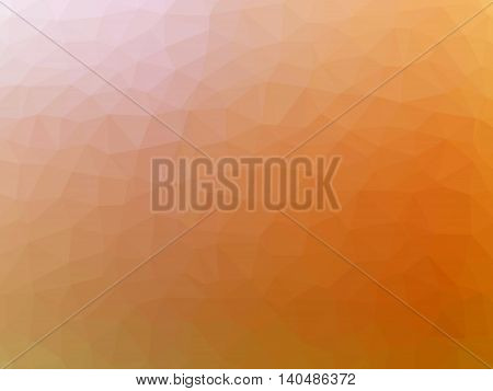 Orange pink abstract gradient polygon shaped background.