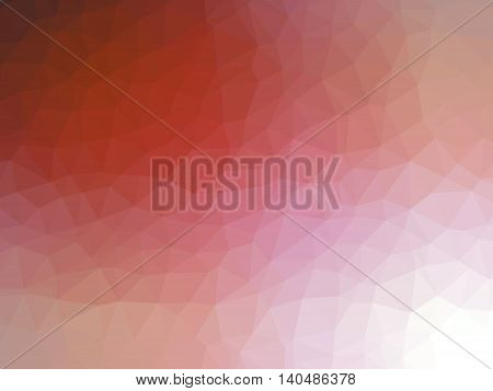 Red white gradient abstract low polygon shaped background.