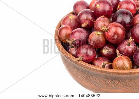 Red Gooseberries In Bowl