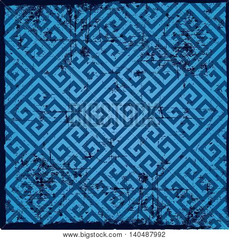 Background pattern -geometry lines, light blue color, greek pattern
