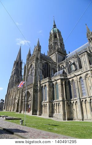 Picture of the Cathedral of Bayeux in France
