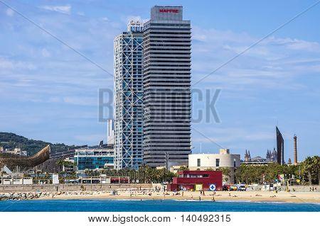 Skyscraper Torre Mapfre In Barcelona