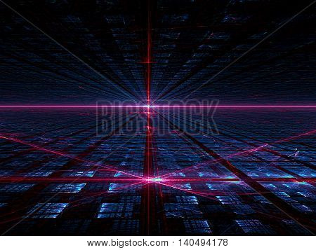 Abstract Background With Light Effects - Digitally Generated Image