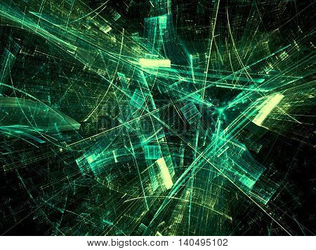 Abstract Shards Of Glass - Digitally Generated Image