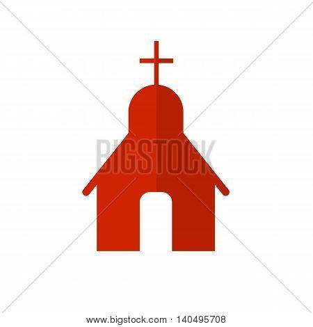 Vector church flat icon. Christian church. Religion