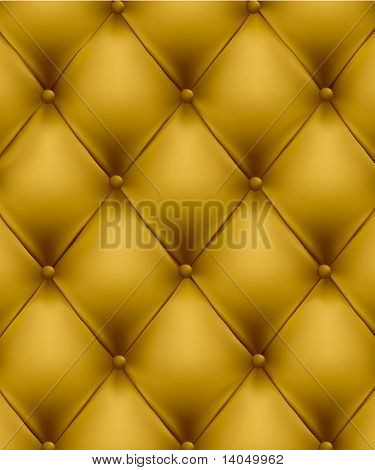 Yellow leather background. Vector illustration.