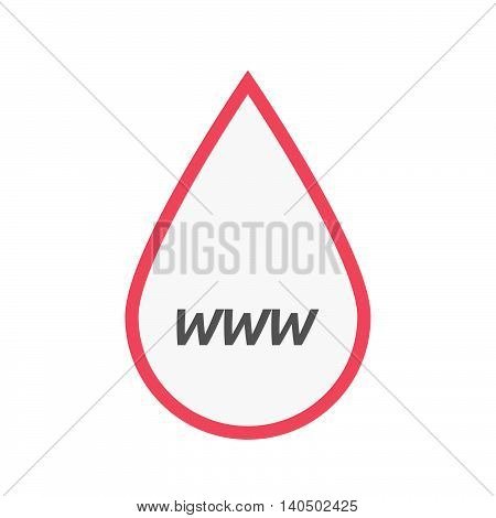 Isolated Line Art Blood Drop Icon With    The Text Www