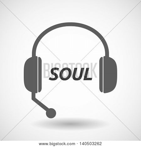 Isolated  Headset Icon With    The Text Soul