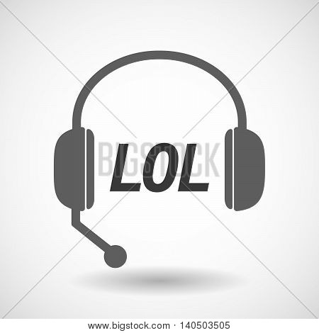 Isolated  Headset Icon With    The Text Lol