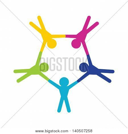 Teamwork and Paratroopers logo vector art design
