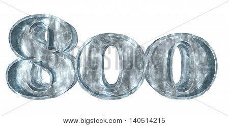 frozen eight hundred on white background - 3d rendering