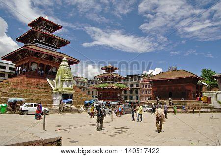 Kathmandu, Circa August 2012 - View Of Durbar Square Circa August 2012 In Kathmandu.