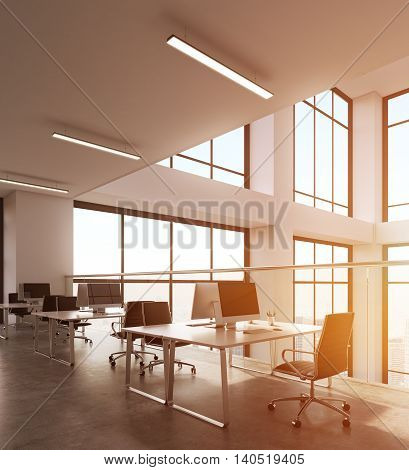 Sunlit Office Interior