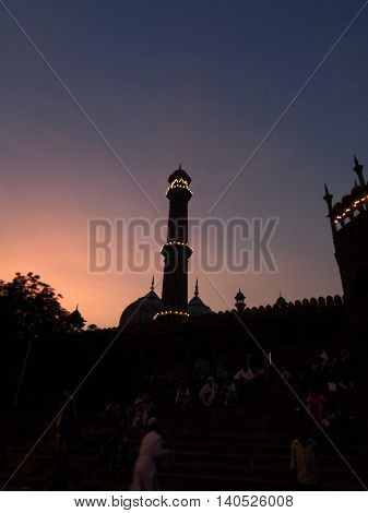 Jama Masjid is one of the largest mosques in India. It was built by Mughal emperor Shah Jahan.