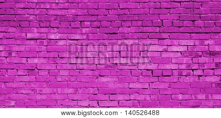 Brickwork, brick, pattern of old brick surfaced, rough brick wall, brickwall, brick house, pink brickwork, deep pink, fuchsia
