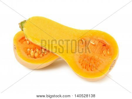 Butternut Squash Isolated On The White Background