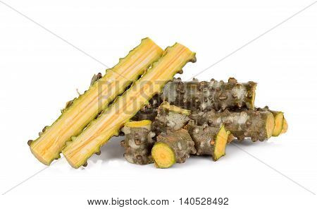 Tinospora Cordifolia Herb Isolated On White