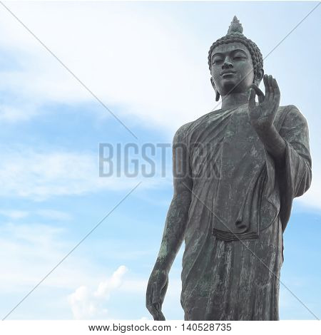 Big Buddha in Phutthamonthon-Nakhon Pathom. This is a landmark of Buddhist in thailand.