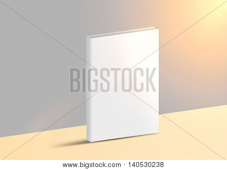 Mock-up 3D rendering book, catalog, magazine isolated on a blur gray background. 3D render book.