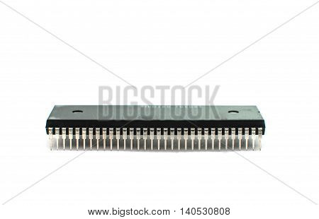 Electronic microchips computer industry isolated on white
