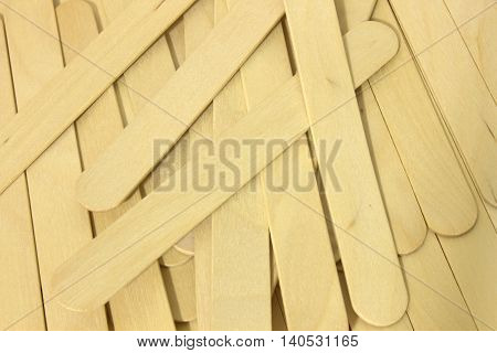 This is a photograph of wooden spatulas for waxing