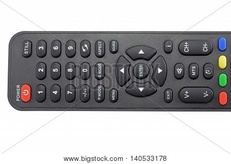thev remote control unit on white background
