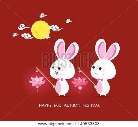 Moon Rabbits of Mid Autumn Festival design