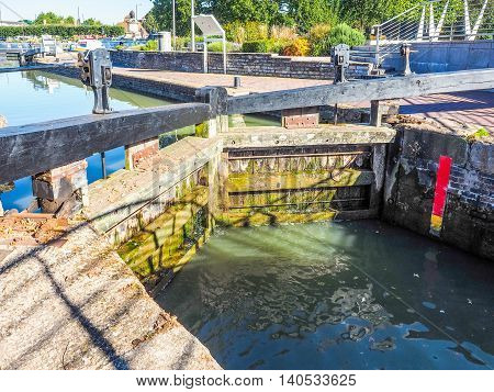 Lock Gate In Stratford Upon Avon Hdr