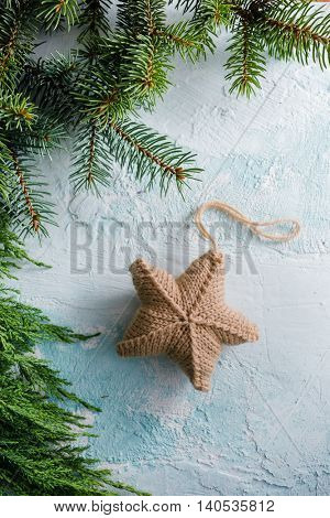 Christmas star hanging decoration