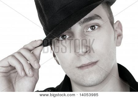 Man With Black Hat