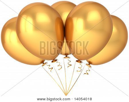 Golden balloons decoration