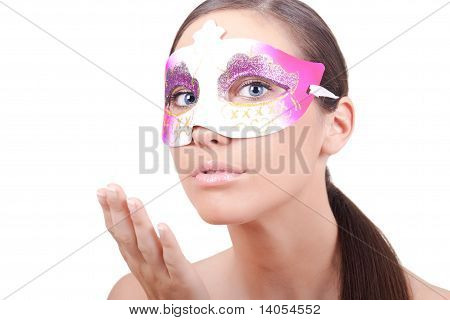 Woman With Masquerade Mask