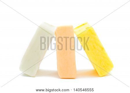 chewing candy jelly on a white background