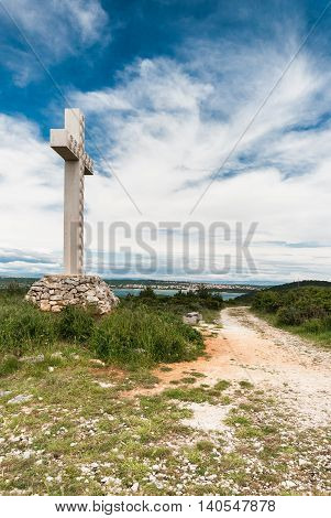 Cross On Cape Kamenjak, Istra, Croatia