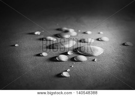 Drops on table